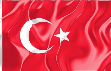 Flag of Turkey, national country symbol illustration Stock Illustration - 4183209