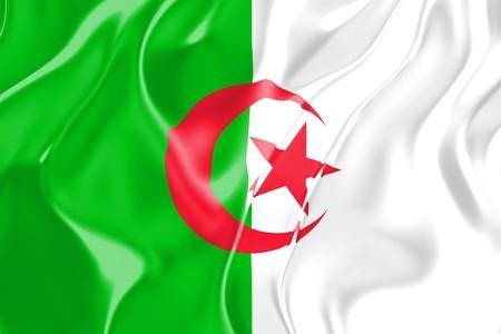 Flag of Algeria, national country symbol illustration Stock Illustration - 4308628