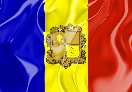 Flag of Andorra, national country symbol illustration illustration