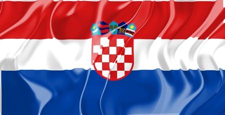 Flag of Croatia, national country symbol illustration Stock Illustration - 4308742