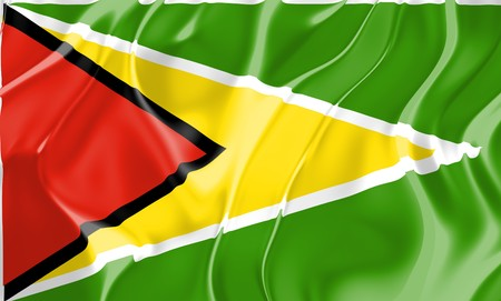 Flag of Guyana, national country symbol illustration Stock Illustration - 4308668