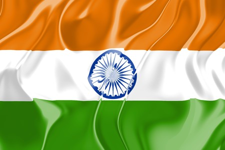 Flag of India, national country symbol illustration Stock Illustration - 4308736