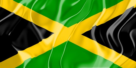 Flag of Jamaica, national country symbol illustration Stock Illustration - 4308658