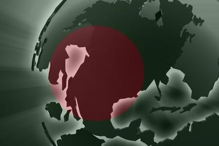national symbol: Flag of Bangladesh, national country symbol illustration