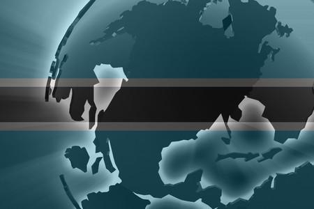 botswana: Flag of Botswana, national country symbol illustration