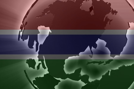 gambia: Flag of Gambia, national country symbol illustration