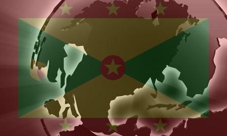 grenada: Flag of Grenada, national country symbol illustration