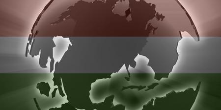 multinational: Flag of Hungary, national country symbol illustration Stock Photo