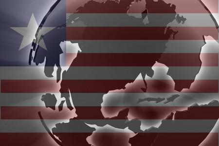 Flag of Liberia, national country symbol illustration illustration