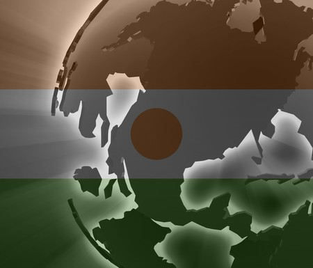 niger: Flag of Niger, national country symbol illustration Stock Photo