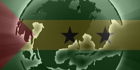 principe: Bandera de Santo Tom� y Pr�ncipe, s�mbolo nacional de los pa�ses ilustraci�n