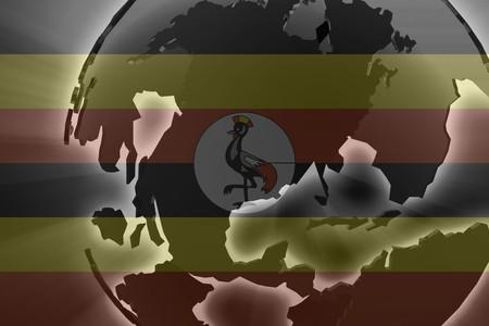 Flag of Uganda, national country symbol illustration illustration