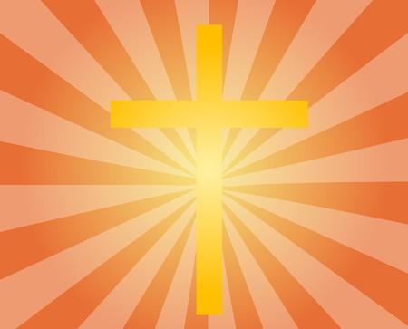 godliness: Christian church cross, religious spiritual symbol illustration