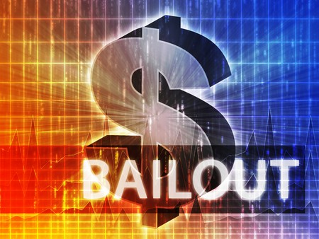 brigh: Bailout Finance illustration, dollar symbol over financial design Stock Photo