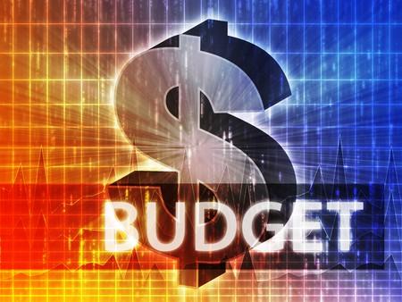 greenbacks: Budget Finance illustration, dollar symbol over financial design