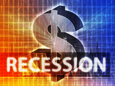 greenbacks: Recession Finance illustration, dollar symbol over financial design