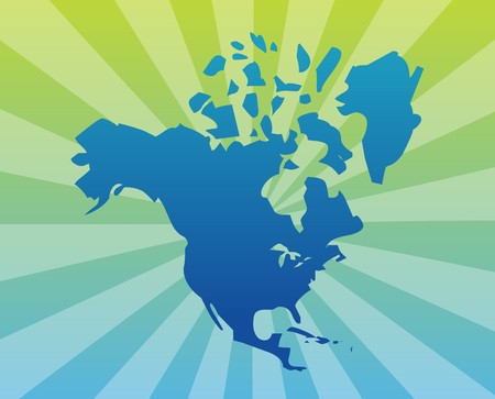 Map Of The North American Continent USA Canada Mexico Stock Photo - Us canada mexico map