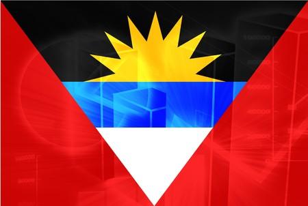 antigua: Flag of Antigua national country symbol illustration