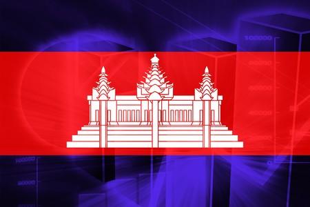 cambodian: Flag of , national symbol illustration clipart