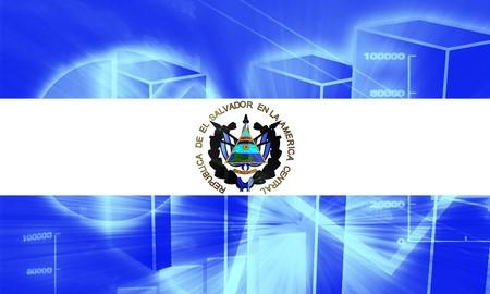 el salvador flag: Flag of El Salvador, national country symbol illustration