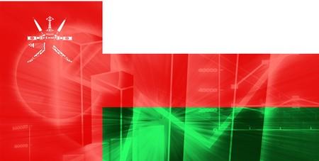 Flag of Oman, national country symbol illustration illustration