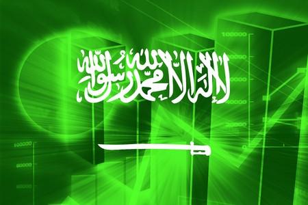 saudi: Flag of Saudi Arabia, national country symbol illustration Stock Photo
