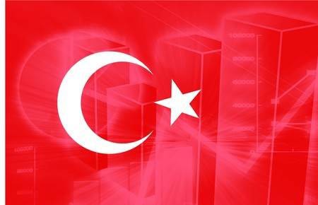 Flag of Turkey, national country symbol illustration Stock Illustration - 4390098
