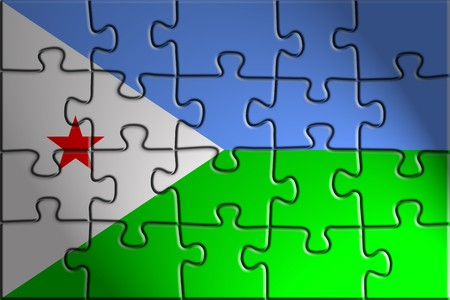 djibouti: Flag of Djibouti , national country symbol illustration Stock Photo