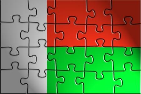 Flag of Madagascar, national country symbol illustration illustration