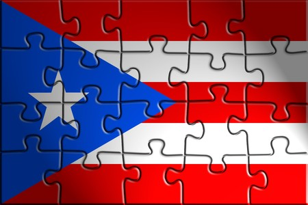 puerto rico: Flag of Puerto Rico, national country symbol illustration