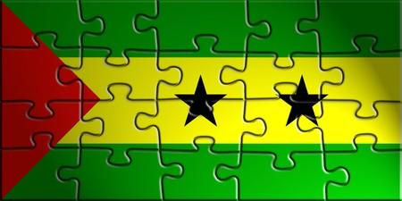 tome: Flag of Sao Tome and Principe, national country symbol illustration