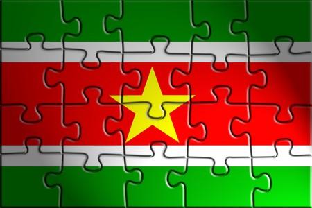 suriname: Flag of Suriname, national country symbol illustration
