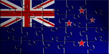 tokelau: Flag of Tokelau, national country symbol illustration Stock Photo