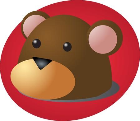 Cartoon head of a monkey, cute animal illustration Stock Illustration - 4462023