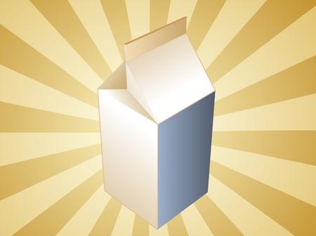 carton de leche: Leche en cart�n ilustraci�n, liso Tetrapack bebida contenedor Foto de archivo