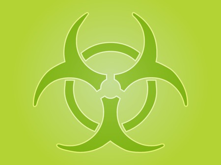 bio hazardous: Biohazard sign, warning alert for hazardous bio materials