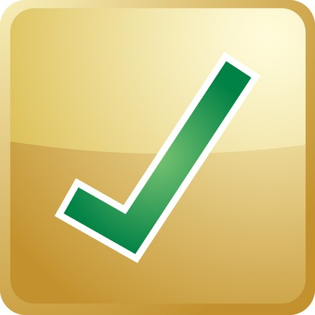 Confirm navigation icon glossy button, square shape Stock Photo - 4470494