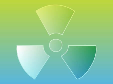 Illustration of radiation hazard warning alert symbol Stock Illustration - 4470491