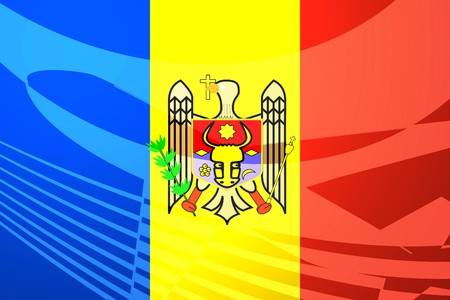 Flag of Moldova, national country symbol illustration illustration