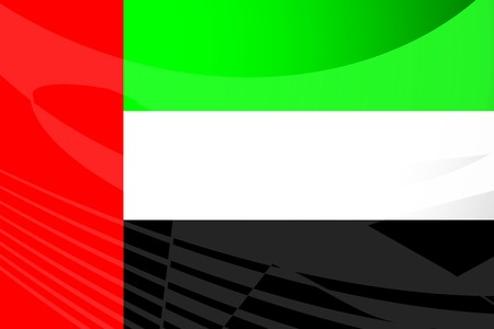 Flag of UAE, national symbol illustration clipart illustration