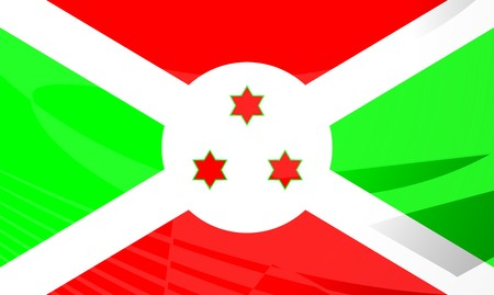 burundi: Flag of Burundi, national country symbol illustration
