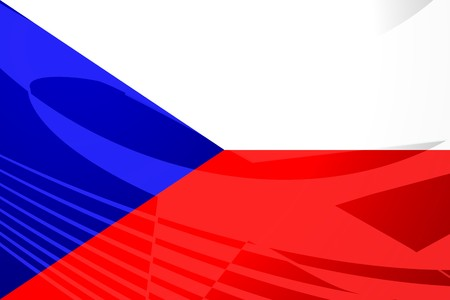 czechoslovakia: Flag of Czechoslovakia, national symbol illustration clipart