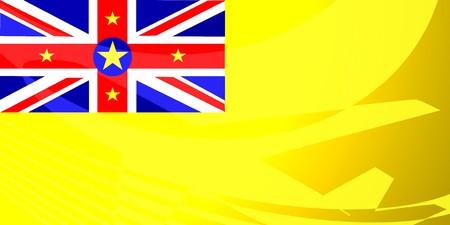 niue: Flag of Niue, national country symbol illustration