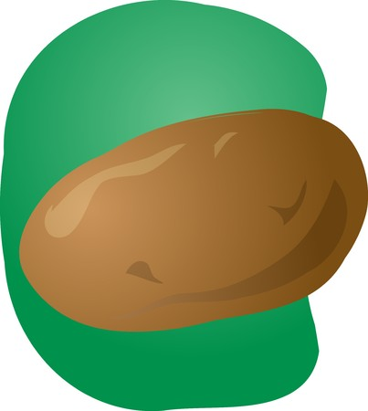 unpeeled: Sketch of a potato. Hand-drawn lineart look illustration Stock Photo