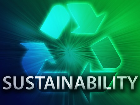 sustain: Recycling symbol, eco environment friendly sustainability illustration