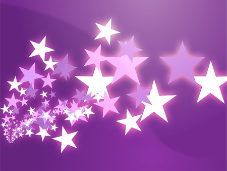 five stars: Abstract geometric wallpaper background of dynamic flying stars
