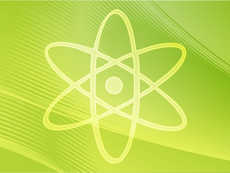 Atomic symbol Stock Photo