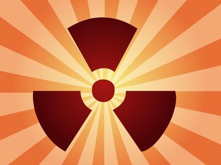 Illustration of radiation hazard warning alert symbol Stock Illustration - 4578593