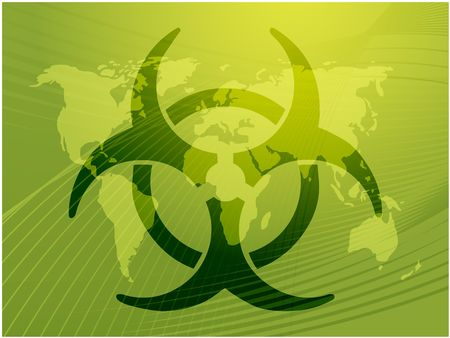 infectious waste: Biohazard sign, warning alert for hazardous bio materials