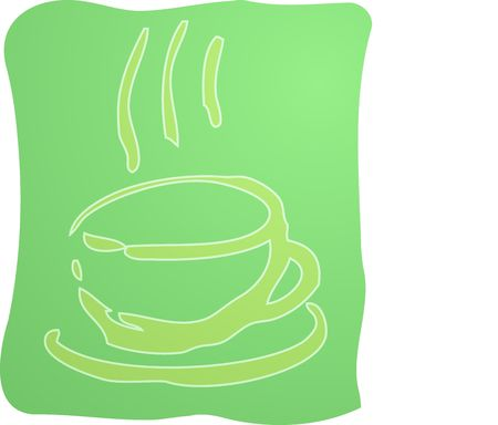 Illustration of a cup of coffe, rough hand-drawn sketch Stock Illustration - 4590832